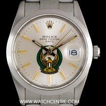 롤렉스 (Rolex) S/S O/P Silver UAE Crest Eagle Logo Dial Date...