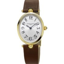 Frederique Constant Art Deco Full Gold Plated Silver Dial