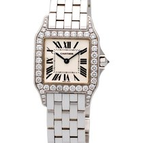 Cartier Santos Demoiselle 18K White Gold Diamond Midsize...