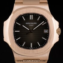 Patek Philippe 18k R/Gold Black-Brown Dial Nautilus Gents...