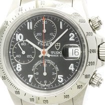 Tudor Polished  Prince Date Tiger Steel Automatic Mens Watch...
