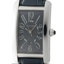 Cartier Tank Collection Tank Americaine Large 27mm 18k White...