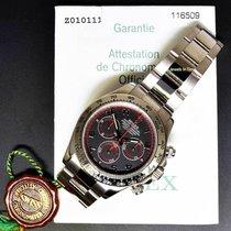 Rolex Mens Daytona 18k White Gold Black Dial Automatic Watch...