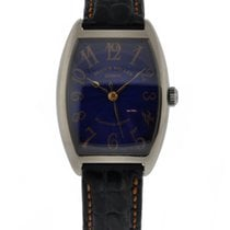 Franck Muller Cintre Curvex 18kt White Gold Blue Dial With...