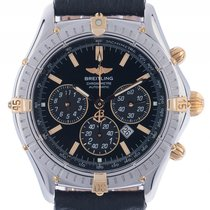 Breitling Windrider Shadow Chronograph Stahl Gelbgold Automati...