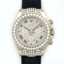 Rolex White Gold Daytona Diamond Watch Ref. 116599