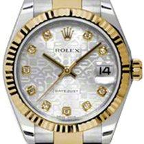 Rolex Datejust Ladies Midsize 178273-SLVJDO Silver Jubilee...