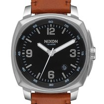 Nixon A1077-1037 Charger Leather Herren 44mm 10ATM
