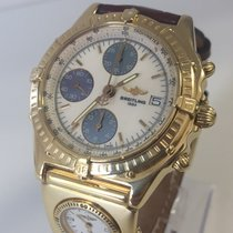 Breitling Chronomat & UTC - 18K - Box & Papers - Gold...