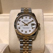 Rolex Datejust 31mm Diamond Dial Steel and Gold B&P
