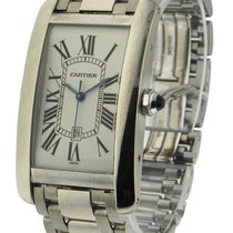 Cartier W26055L1 Tank Americaine - Large Size in White Gold -...