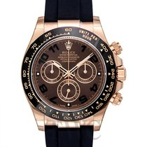 롤렉스 (Rolex) Daytona Chocolate 18k Rose Gold/Rubber 40mm -...
