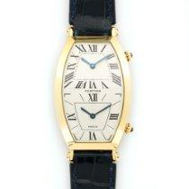 Cartier Yellow Gold Tonneau Dual Time Zone Watch