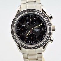 Omega Speedmaster Chronograph Automatic Date Stainless Black...