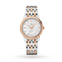 Omega De Ville Prestige Butterfly Bi-Metal Diamond Ladies...