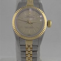 Rolex Ladies Two Tone 18k Yellow Gold Stainless Rolex Oyster...