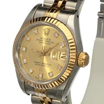 Rolex Oyster Datejust Lady Jubilee Gold Steel Diamond Dial 26 mm