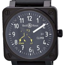 Bell & Ross Aviation BR01 CLIMB Black PVD Automatic Watch...