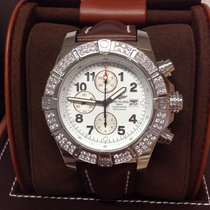 Breitling Super Avenger A13370 - Diamond Bezel Serviced By...