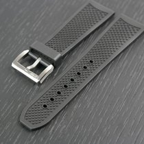 Cartier Calibre Diver Black Rubber Strap Band With Steel...