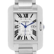Cartier Tank Anglaise Steel Automatic Large Mens Watch W5310009
