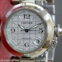 Cartier Pasha Cartier Auto Mens Stainless Steel Watch Ref 2324
