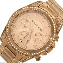 Michael Kors Blair Pink Rose Gold-Tone Chronograph Quartz...