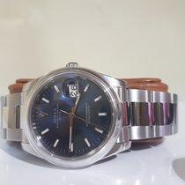 ロレックス (Rolex) Date blue 34mm  like New - full set - warranty 2...