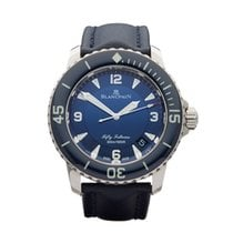 Blancpain Fifty Fathoms 18k White Gold Gents 5015-1540 52