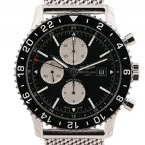 Breitling Chronoliner Stahl Automatik Chronograph Stahlband 46mm