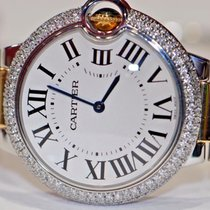 Cartier Ballon Bleu 36 MM Midsize 18K Gold Diamonds