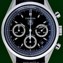 TAG Heuer Carrera CV2113 Automatic Chrono 39mm Black Dial