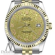 Rolex 26mm Womens Rolex Datejust 18k 2tone Champagne Gold...