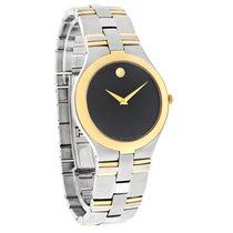 Movado Juro Mens Black Museum Two Tone Swiss Quartz Watch 0605030