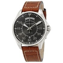 Hamilton Men's H64615585 Khaki Aviation Pilot Day Date...