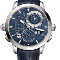 Ulysse Nardin CLASSIC SONATA Steel Case, Dial Blue, Leather...