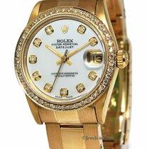 Rolex Datejust 18k Yellow Gold Diamond MOP Automatic Midsize...