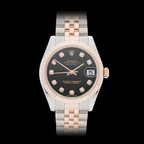 Rolex Datejust Stainless Steel & 18k Rose Gold Gents...