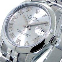 Rolex 178240 Datejust Mid Size 31 Mm Steel Rhodium Roman Dial...