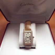 Cartier Tank Américaine 18k yellow gold Diamond bezel