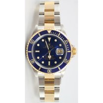 Rolex Submariner 16613 Stainless Steel and Gold Blue Dial...