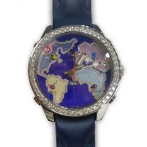 Jacob & Co. Five Time Zone Stainless Steel Diamonds Purple...