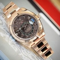 Rolex Sky Dweller Chocolate Dial 18K Rose Gold Watch