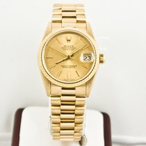 Rolex Datejust 68278 31mm Gold President Box & Booklets...