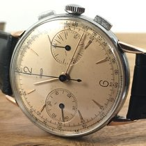Jaeger-LeCoultre Steel & Rose Gold Chronograph Mechanical...