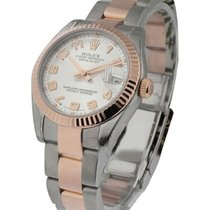 Rolex Unworn 178271 Mid Size 2-Tone Rose Gold Datejust with...