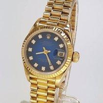 Rolex Datejust mit blauem Diamantblatt blue Diamond Dial