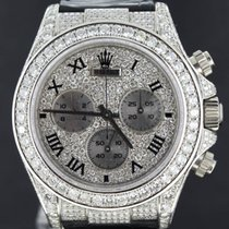 ロレックス (Rolex) Daytona White Gold, 2000(K-Series) Full Diamonds...
