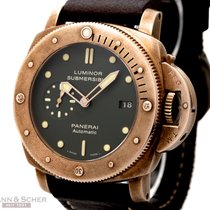 Panerai Luminor 1950 BRONZO PAM382 Bronce-Titanium Box Papers...