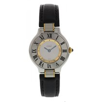 Cartier Must 21 SS/18K YG 1340 W/ Papers And Booklet
